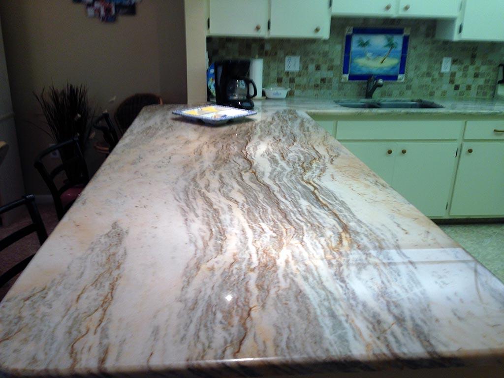 Florida condo kitchen bar top island