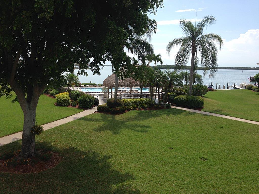 Florida condo pool with ocean view